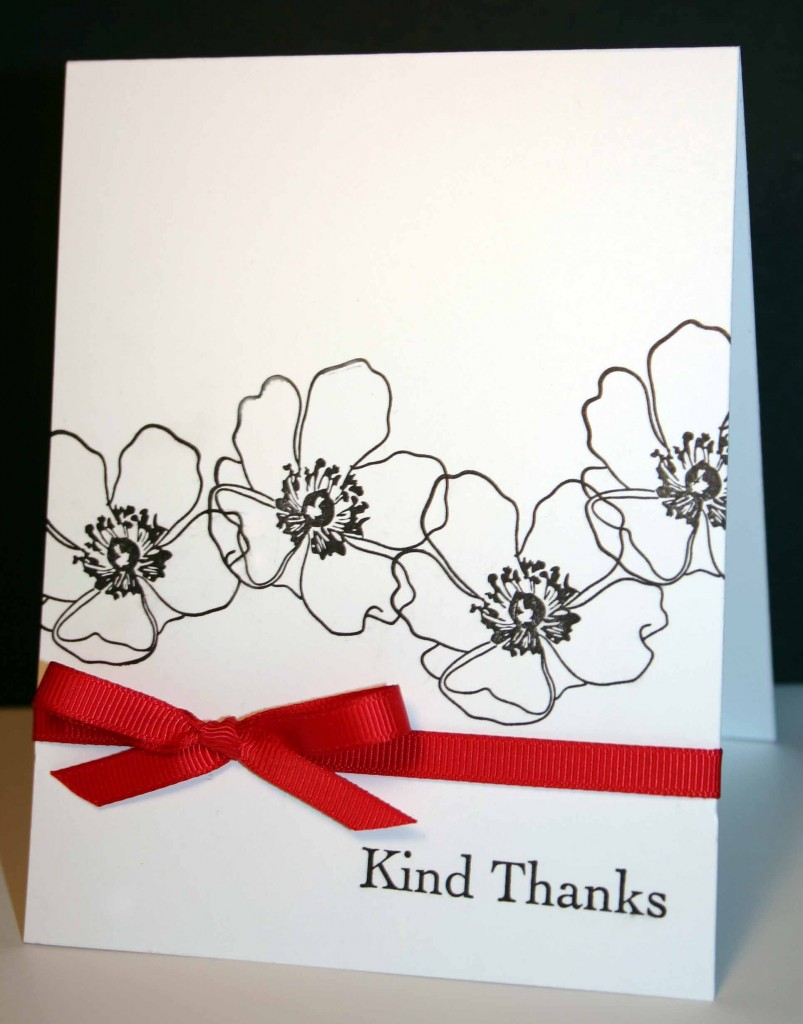 Thank you card created with fabulous florets stamp set