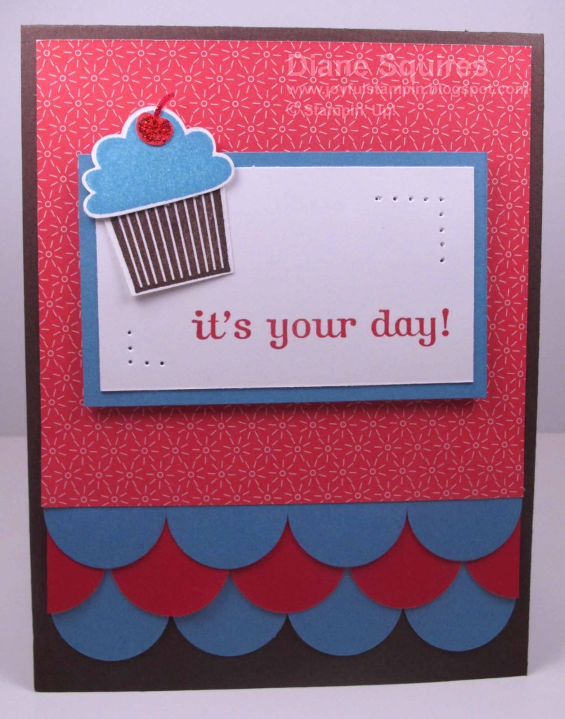 Birthday card created using Create a Cupcake Stamp Set