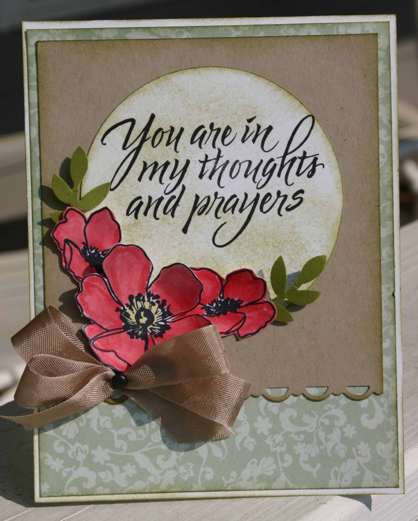 Sympathy card created with Fabulous Florets Stamp Set