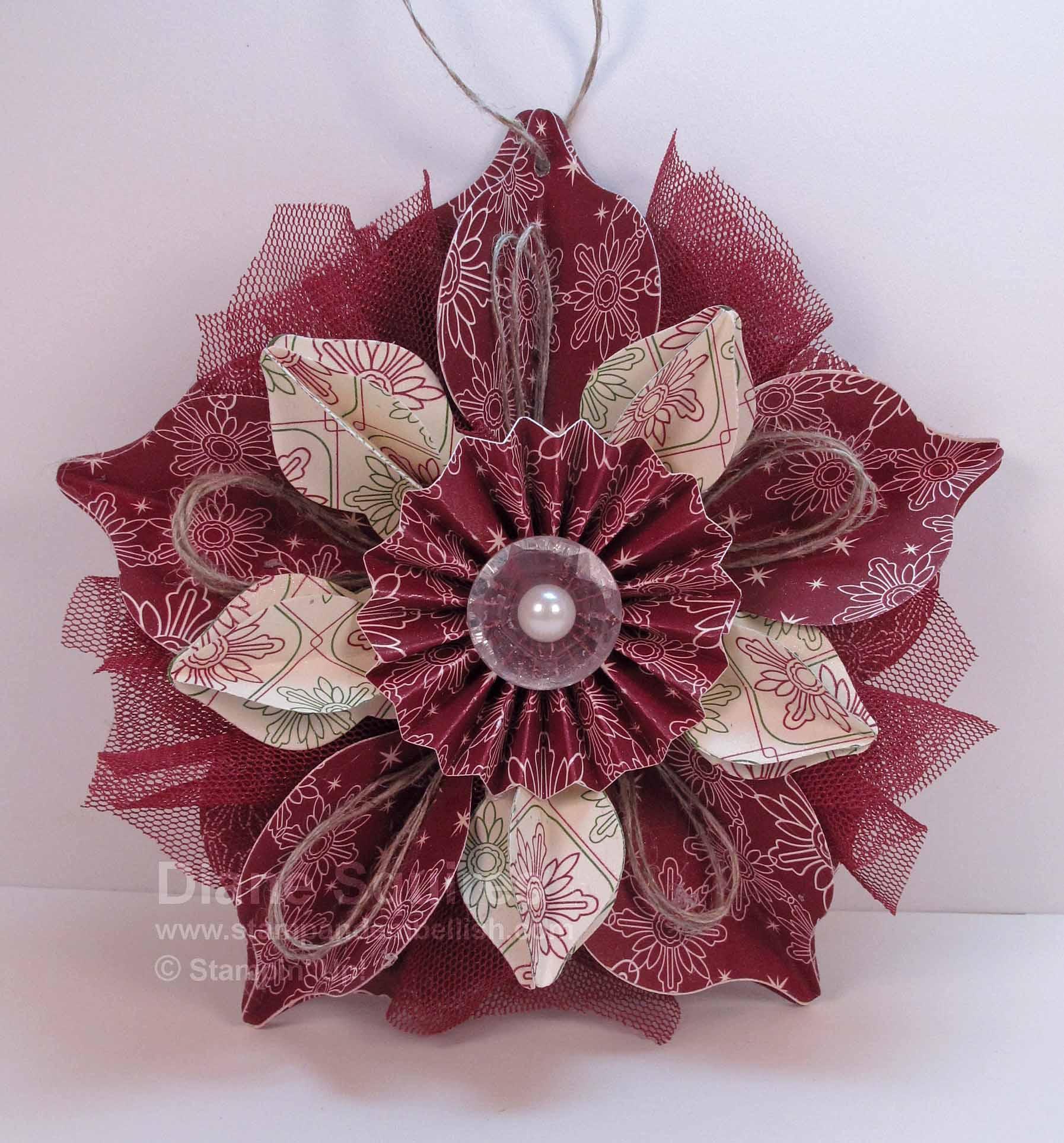Handmade Christmas Ornament Stamp Embellish