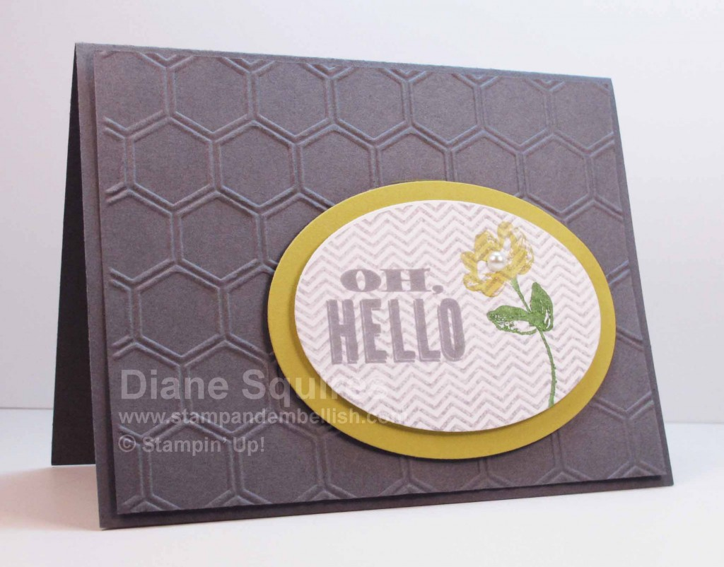 Honeycomb embossed greeting card