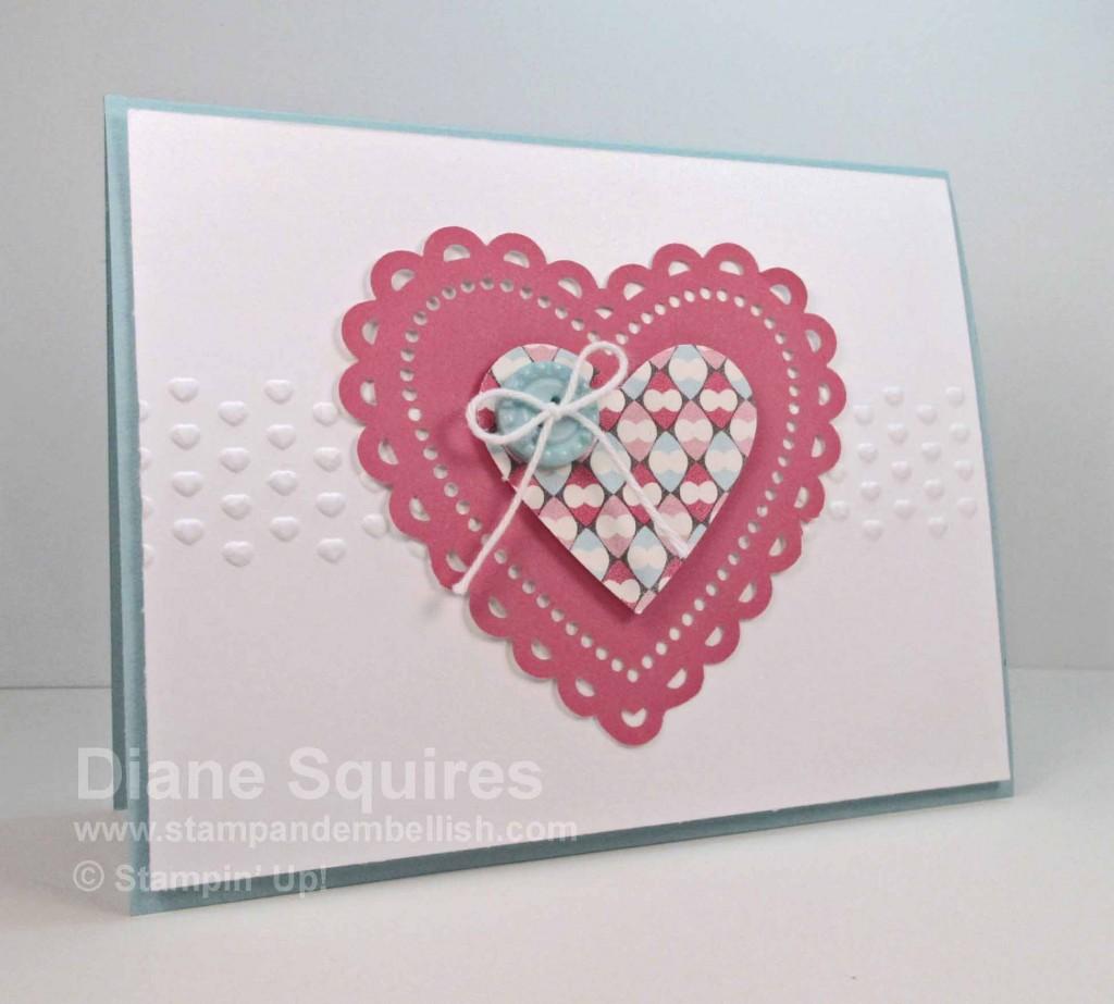 Stampin Up Valentine's Card
