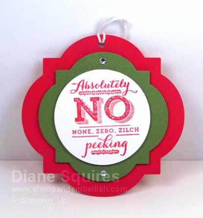 Handmade Christmas Gift Tag
