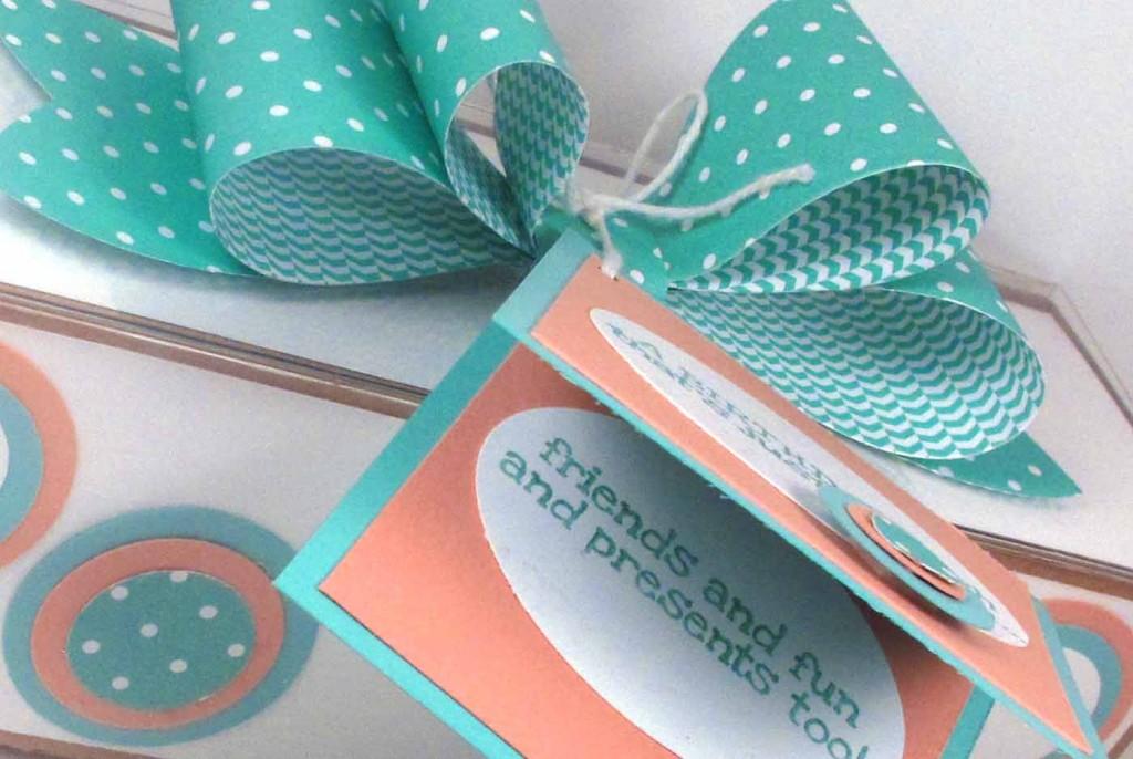 DIY Gift box with polka dots