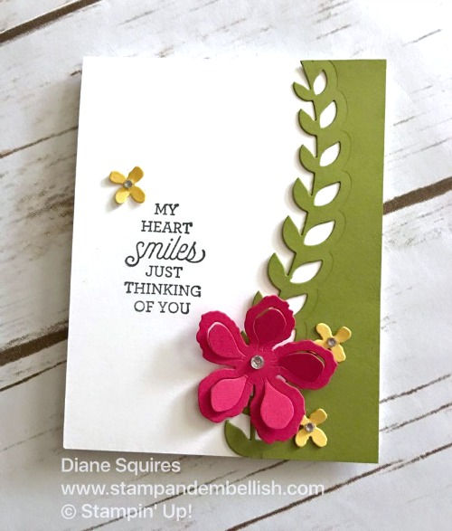 Quick and cute card - Botanical Gardens by Stampin' Up!