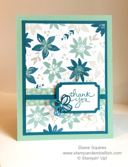 Blooms and Bliss Thank you card