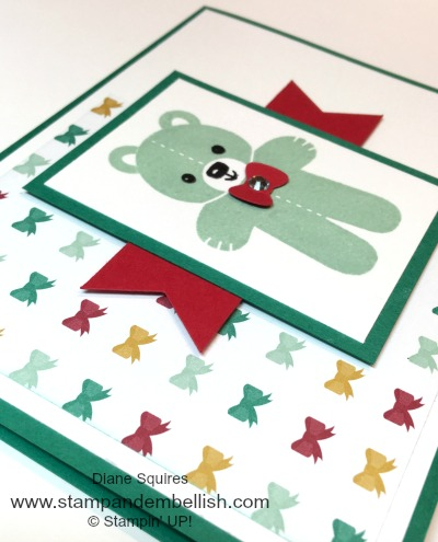 Cookie Cutter Christmas can be used all year long. Check out this bear baby card.