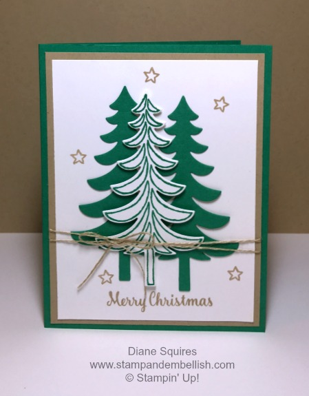 Quick and Simple Christmas Card using the Santa's Sleigh Stamp Set and Bundle from Stampin' Up! www.stampandembellish.com