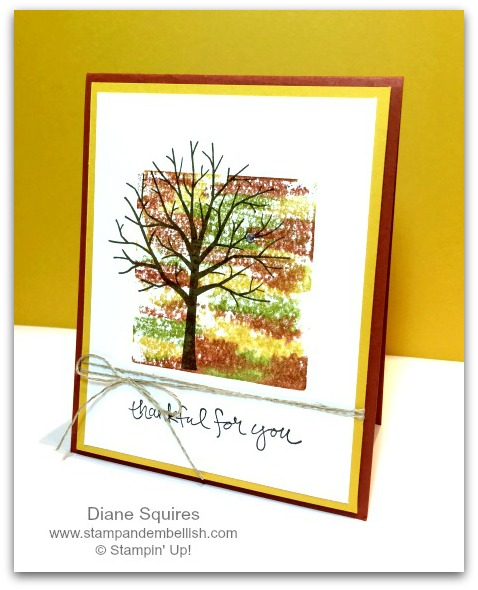 Sheltering tree/thinking of you handmade card