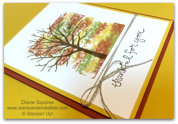 sheltering tree/block stamping with water