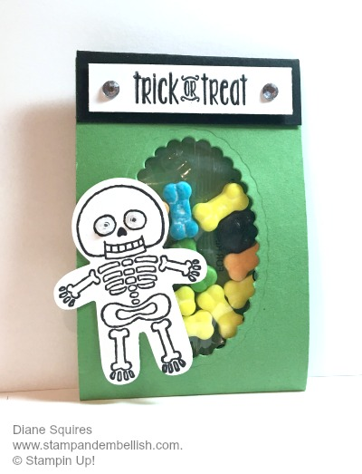Cookie Cutter Skeleton makes this package of bones the perfect Halloween treat. www.stampandembellish.com