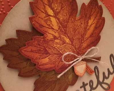 Stampin' Up!'s Vintage leaves dies and coordinating stamp set make for some real looking leaves.