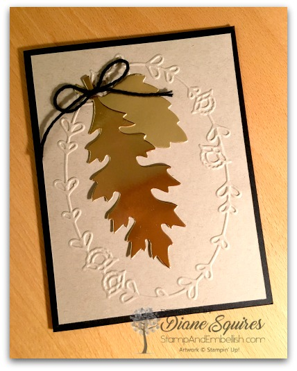 Copper and gold foil makes for a simple but beautiful leaf card.