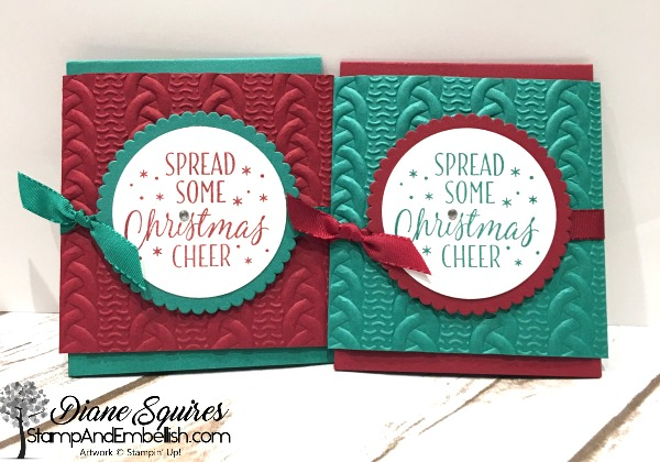 Gift Card Holder using the Cable Knit Embossing Folder