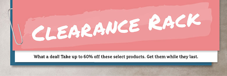 Have you checked out the Stampin' Up! Clearance Rack? Time to stock up...even for the holiday!