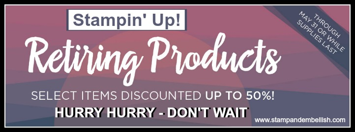 Stampin' Up!'s Retiring List is out with big discounts!