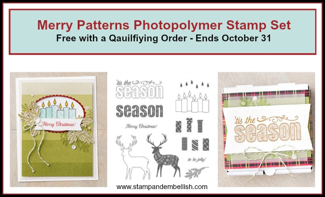 Free Stamp Set with a Qualifying Order