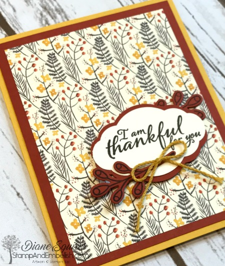 Fun Fall colors in the Painted Autumn designer paper - and it's now on sale