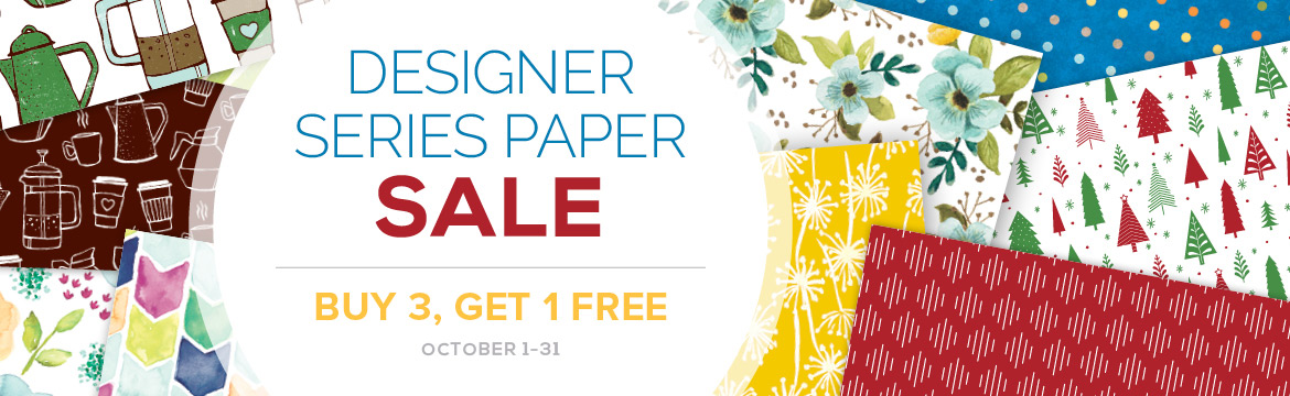 Stampin' Up! Designer Series Paper Sale - Buy 3 get 1 FREE!