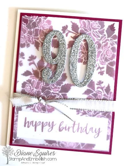 90th Birthday Card For My Mom