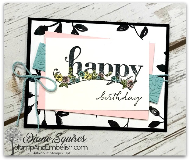 Happy Wishes is the perfect stamp set for all occasions. It includes 16 stamps and you can get it free with a purchase during Sale-A-Bration!