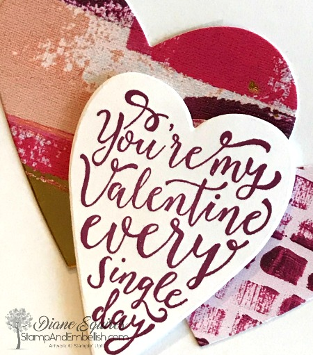 You too can make a love card in minutes just using a couple of hearts and a sweet sentiment.