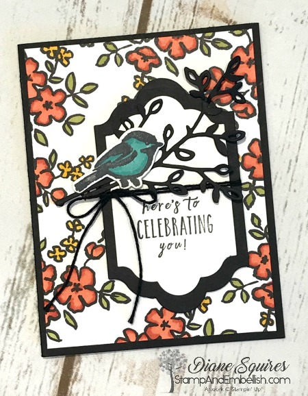 Combine Stampin Blends with the Petal Passion Designer Series Paper and color away! I love that this black and white paper can be used as is or can be colored with blends, markers, sponge and ink or a spritzer. Have fun no matter how you choose to color