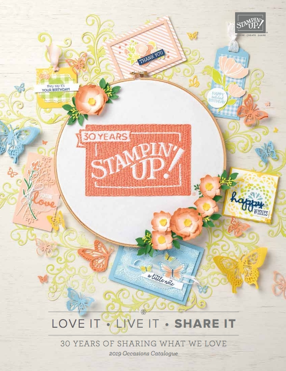 The new 2019 Stampin' Up! Occasions Catalog has all the newest stamp sets, dies, and accessories for spring and summer. And when you shop from January through March you get to earn Free product from our 2019 Sale-a-bration Catalog. Check out how on my blog. www.stampandembellish.com