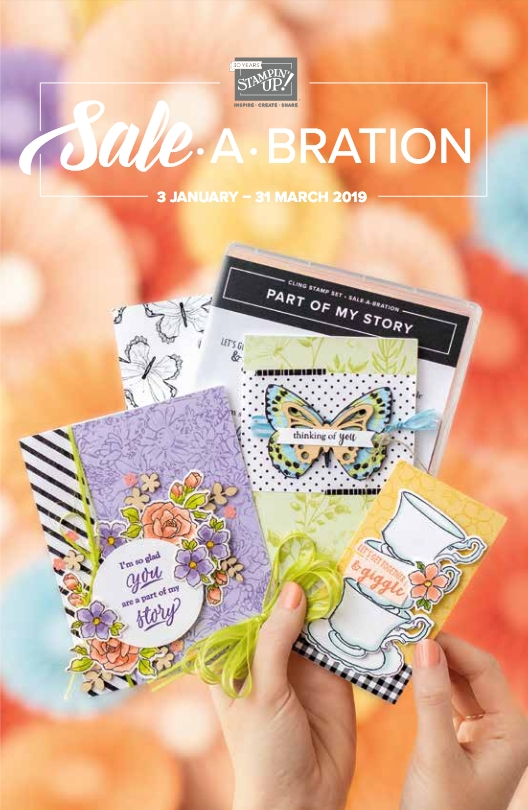 The 2019 Sale-a-bration Catalog can be viewed online on my blog. Earn awesome Free product from this catalog for every $50 you spend in my online store. www.stampandembellish.com