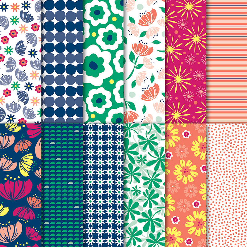 Happiness Blooms Designer Series Paper is bright and bold and fun! Retiring now and only available while supplies last through June 3