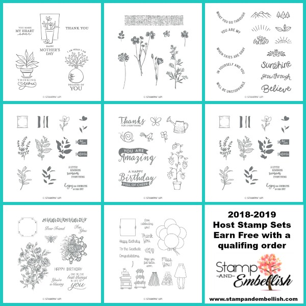 Stampin' Up! Host Sets can be earned with a qualifying order!