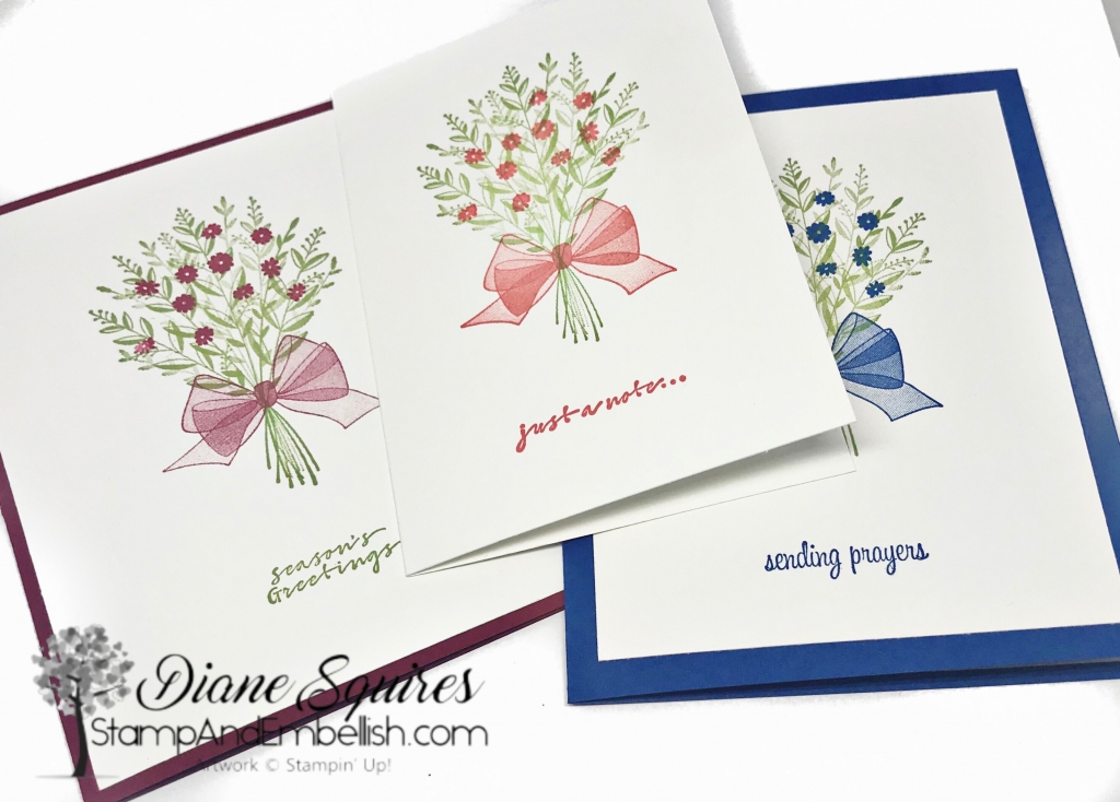 I'm so sad to see the Wishing You Well stamp set on the Stampin' Up! 2018-2019 retiring list. I use this set for quick cards all the time! It's gorgeous and so easy to use in the see through photopolymer. Make sure you grab up yours set before it's gone - June 3, 2019